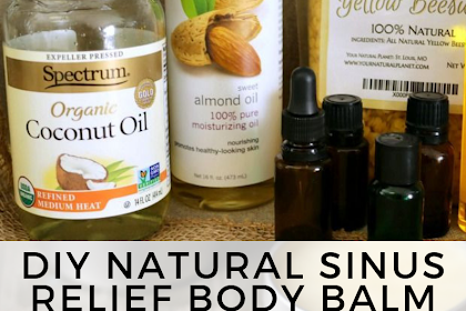 DIY Natural Sinus Relief Body Balm