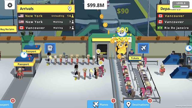 Idle Tap Airport MOD APK 1.4.1 untuk Android