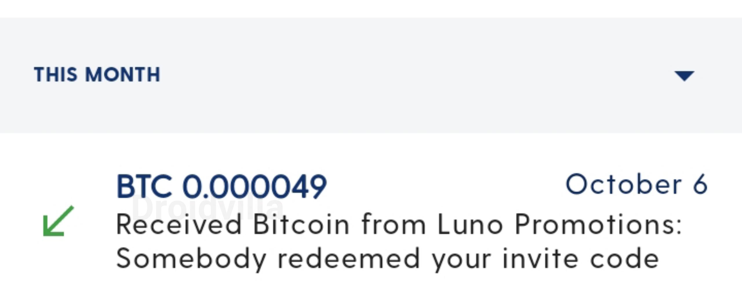 Luno 0.00004985BTC Referral Bonus