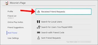 """انقر فوق """"طلبات الصداقة المستلمة"""" لعرض طلبات الصداقة."""