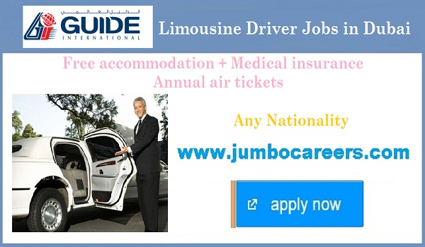 Limousine Driver jobs for Indians, Recent jobs in UAE,