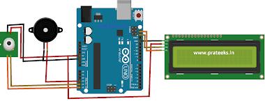 IR Wireless Temperature Sensor Using Ultrasonic sensor HCSR04 & MLX90614