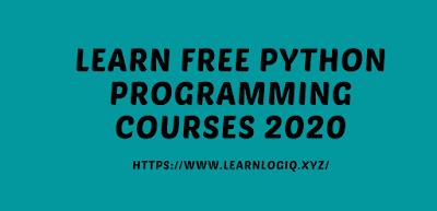 Free Python Programming Courses 2020