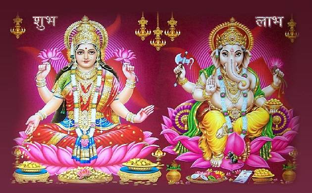 Ganesha Image With Goddess Laxmi