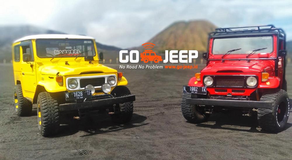 warna warni jeep wisata gunung bromo