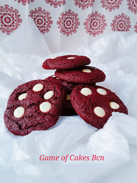 Galletas Red Velvet Cookies con Lacasitos White