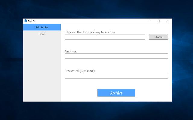تحميل برنامج فك ضغط الملفات لويندوز 10 مجانا Awe Zip