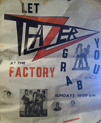 Teazer flyer for The Factory rock club