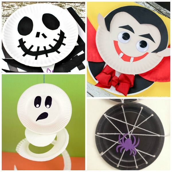 20 BOO-tiful PAPER PLATE CRAFTS FOR KIDS- these are adorable!  sc 1 st  Growing A Jeweled Rose & Halloween Paper Plate Crafts | Growing A Jeweled Rose