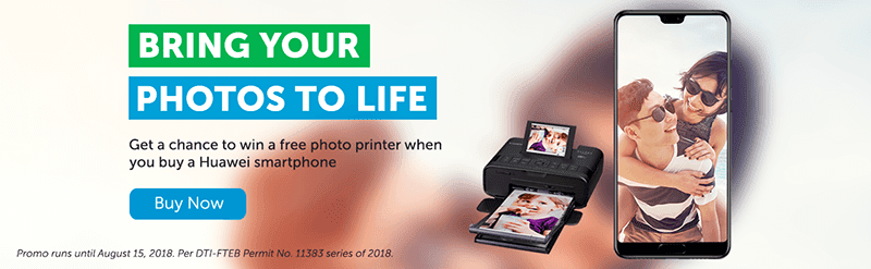 Smart announces Online Store promo, get a Huawei phone for a chance to win a photo printer