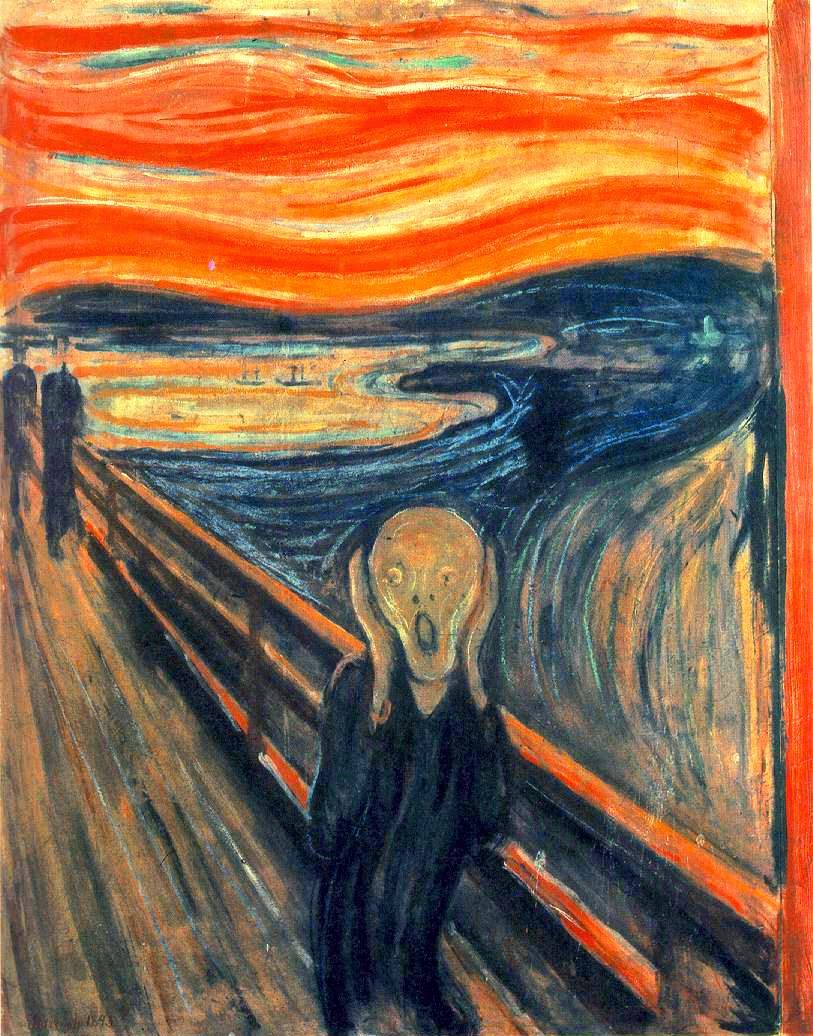 O Grito - Munch, Edvard esuas principais pinturas ~ Um grito de desespero existencial