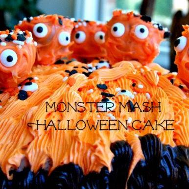 Easy Monster Cake & Happy Halloween