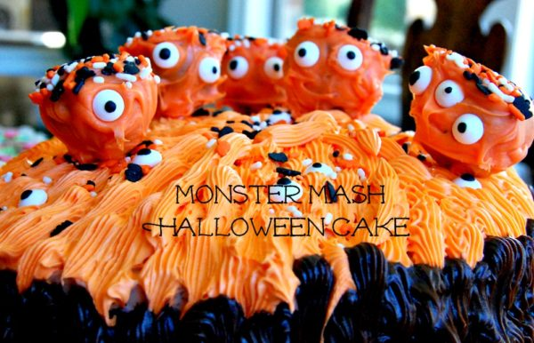 Easy Monster Cake & Happy Halloween