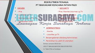 Lowongan Kerja Surabaya Terbaru di PT. Mahakam Kencana Intan Padi Juni 2019
