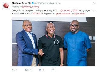 Breaking News: Olamide Becomes Sterling Bank Ambassador