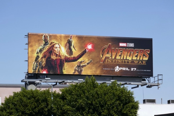 Avengers Infinity War movie billboard