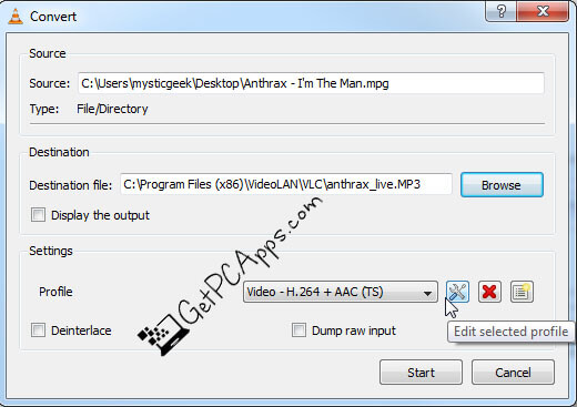 Extract or Convert MP3 Audio from MP4 Video Files in Windows 10 PC via VLC