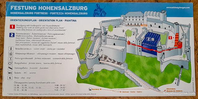 Ingresso para a fortaleza do Hohensalzburg, Salzburgo