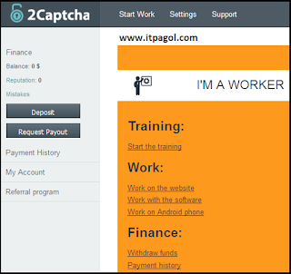 2Captcha Training mode