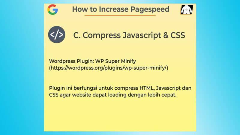 Kompres Javascript, HTML dan CSS Website