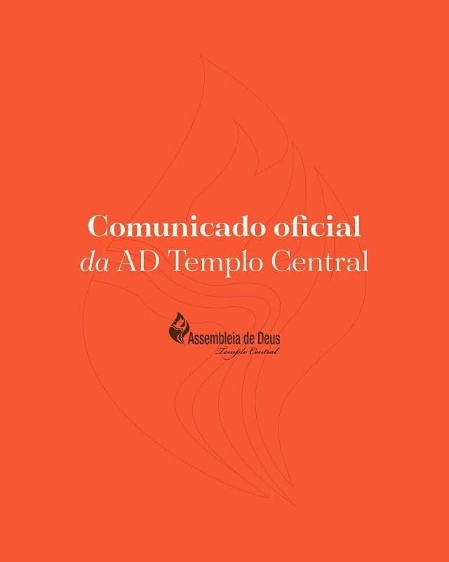 Assembleia de Deus templo central em Fortaleza solta comunicado de como se comportará diante do Decreto do governo do Estado do Ceará