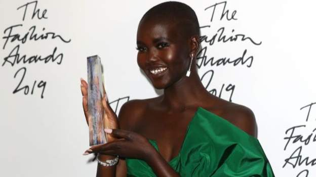 South Sudanese model Adut Akech wins model of the year in fashion awards