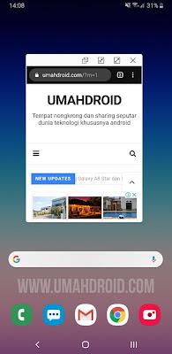 Menggunakan Popup View Android Pie Samsung