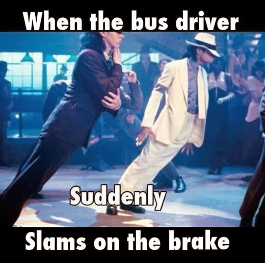 Funny Michael Jackson When the Bus Driver suddenly Slams on the Break Meme Picture