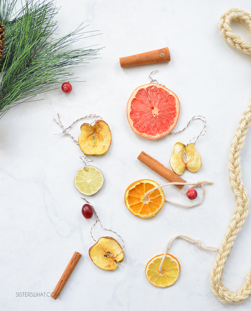 dried apples hanging decorations