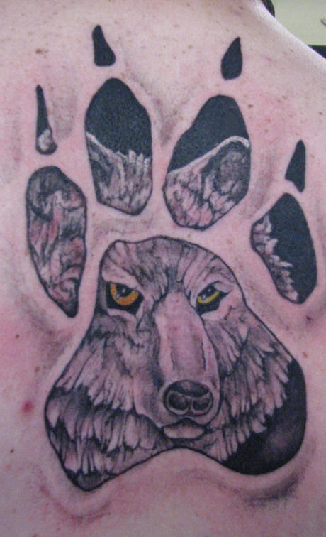 animal tattoo ideas paw print tattoos. Black Bedroom Furniture Sets. Home Design Ideas