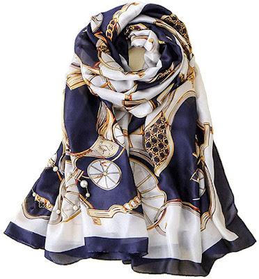 Fashion Designer Silk Chiffon Scarves Shawls