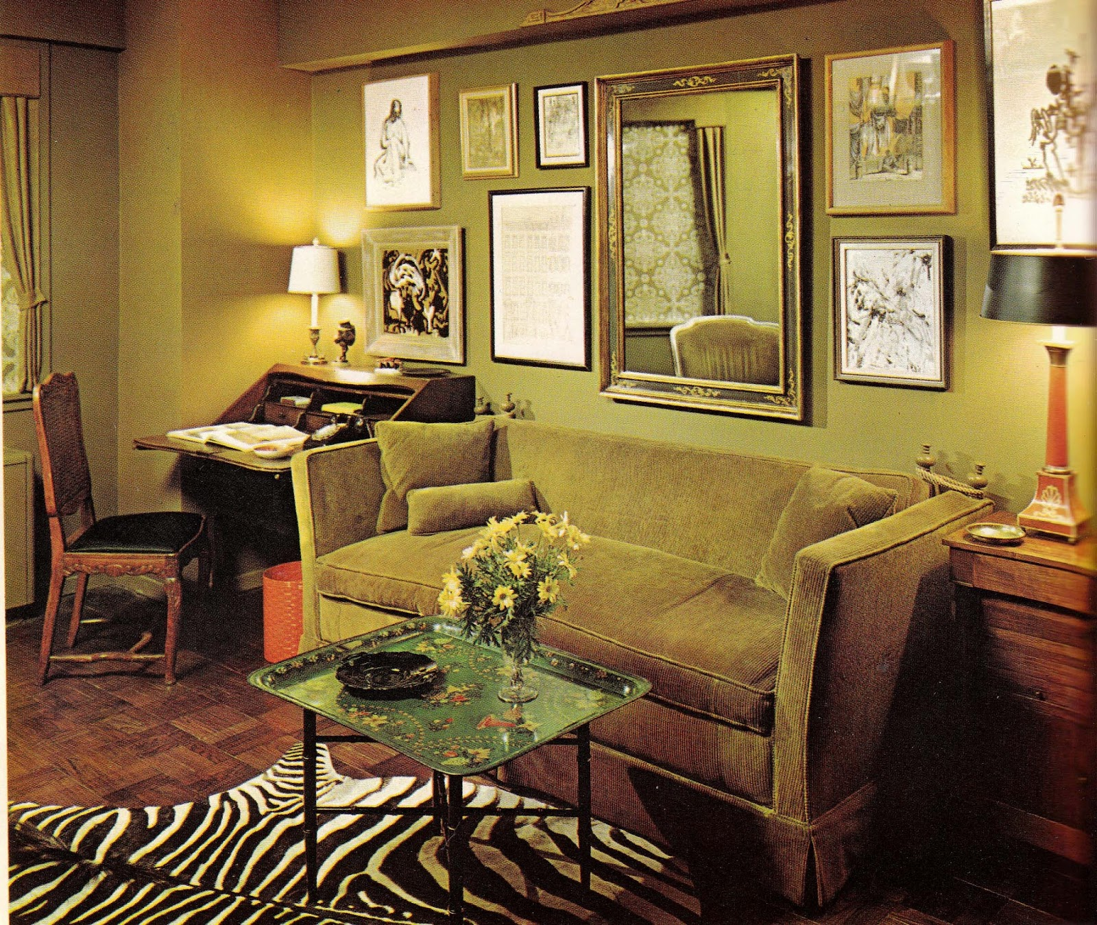 1960s interior d cor the decade of psychedelia gave rise Interior home decoration