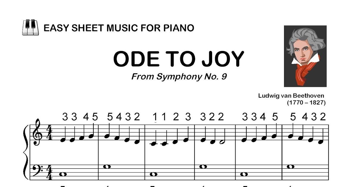 Remifa Music Education Sheets: ODE TO JOY - EASY SHEET MUSIC