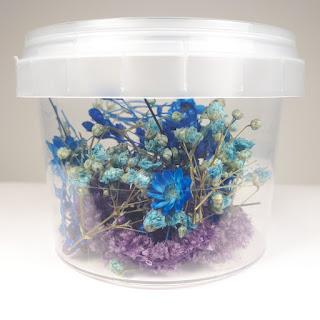 Bote flores azul