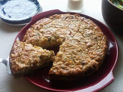 Savory Leek & Dried Tomato Cheesecake in a Rye Crust