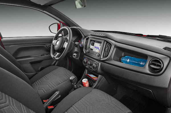 Nova Fiat Strada 2021 - interior