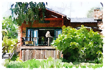 Illustration of the Art House at the California Center for Creative Renewal