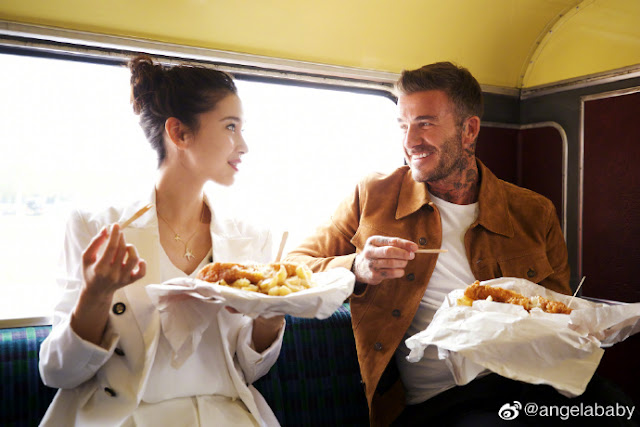 [K-Star]: Angelababy Shares Photos with David Beckham