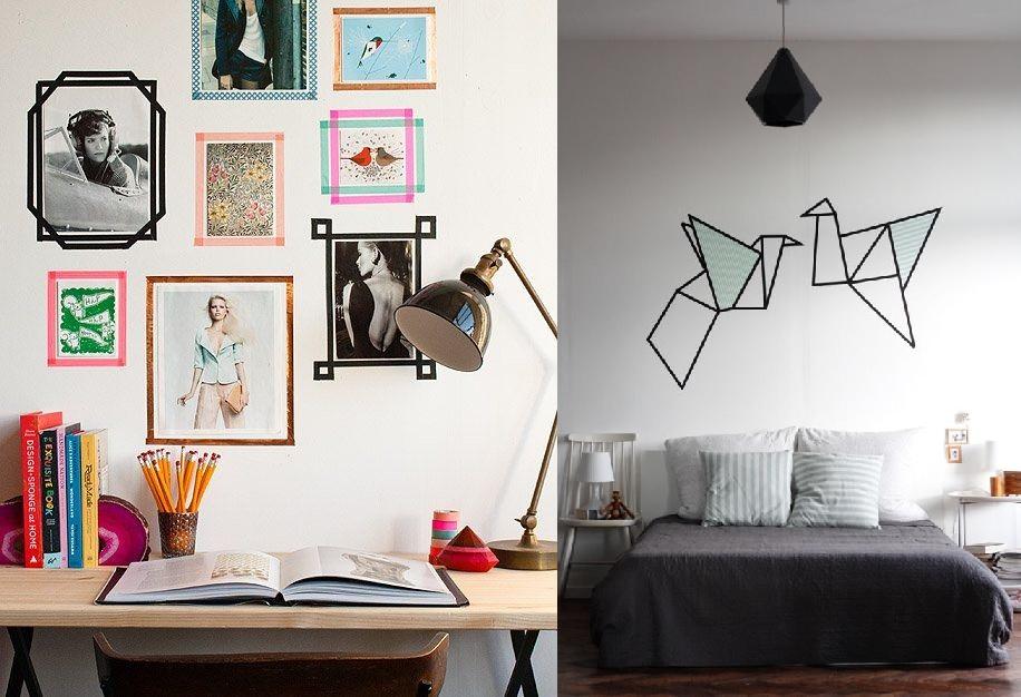 7 ideas para decorar paredes sin taladro ni clavos | Como Decorar ...