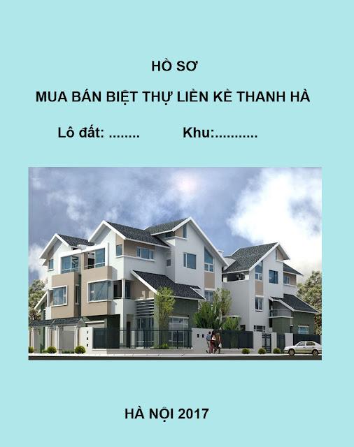 Hồ sơ mua bán liền kề biệt thự Thanh Hà Mường Thanh