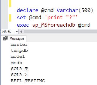 sp_MSforeachdb iterate through all DBs SQL Server 1