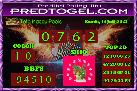 Pred Macau Kamis 15 juli 2021