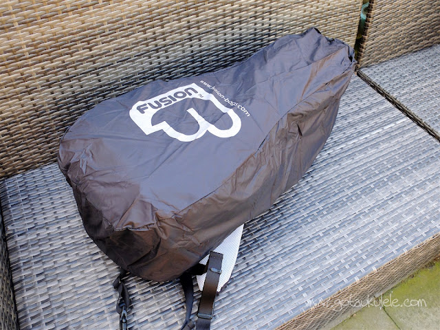 fusion urban double ukulele bag rain cover