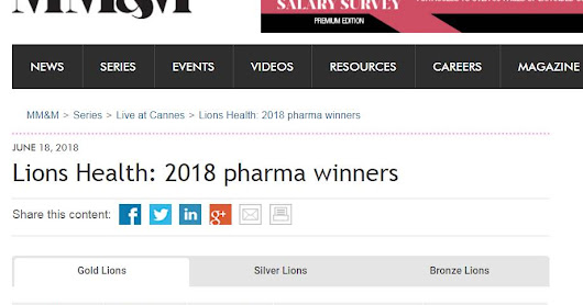 Creatividad: Lions Health 2018 pharma winners
