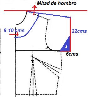 1- Dividimos la linea de hombro a la mitad d332ea57711c9