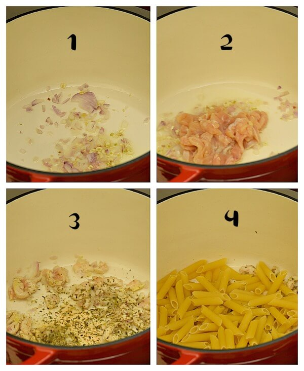 how to make chicken parmesan penne pasta