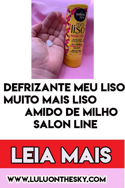 Defrizante Meu Liso Muito + Liso Amido de Milho Salon Line
