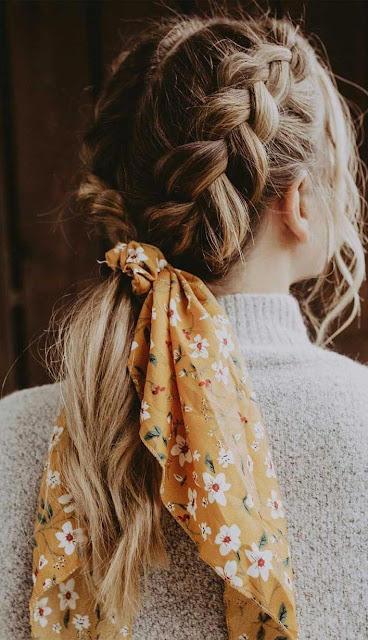 Peinados con bandanas dos trenzas