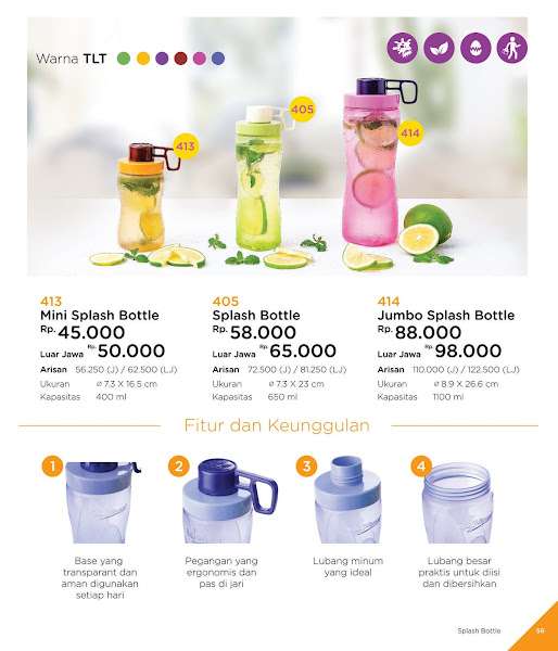 Mini Jumbo Splash Bottle Katalog Tulipware 2019