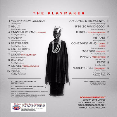 Phyno's Album drops tomorrow - Check out the Tracklist
